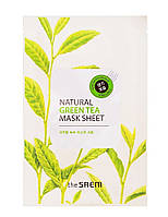 "The Saem Natural Sheet - Тканевая маска с натуральным экстрактом ""Зеленый чай"", 20 мл"