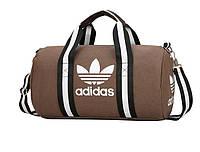 """Cпортивная сумка """"ADIDAS"""" унисекс коричневый"""