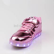 Led кроссовки розовые с крыльями 307-3, фото 2