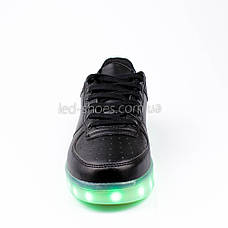 LEd кроссовки на шнурках черные 302-2, фото 2