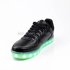 LEd кроссовки на шнурках черные 302-2, фото 3