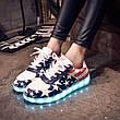LEd кроссовки Американский флаг на шнурках 5103, фото 2