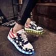 LEd кроссовки Американский флаг на шнурках 5103, фото 3