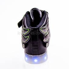 Led кроссовки черные с крыльями 101-2, фото 3