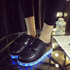 LEd кроссовки черные классические на шнурках 5106-2, фото 2