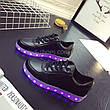 LEd кроссовки черные классические на шнурках 5106-2, фото 3