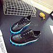 LEd кроссовки черные классические на шнурках 5106-2, фото 4