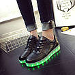 LEd кроссовки черные классические на шнурках 5106-2, фото 5