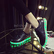 LEd кроссовки черные классические на шнурках 5106-2, фото 6