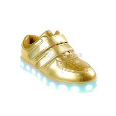 LEd кроссовки золотые классика на липучках 5109-4, фото 2