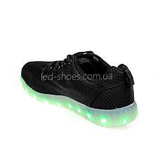 LEd кроссовки дышащие классика черные на шнурках 5308-2, фото 3