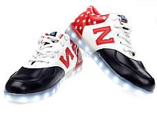 LEd кроссовки Америка буква N на шнурках 5114, фото 3