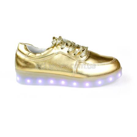 Светящиеся кроссовки золотые, фото 2
