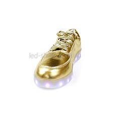 Светящиеся кроссовки золотые, фото 3