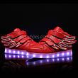 Светящиеся кроссовки Крылья - Wings - высокие красного цвета USB зарядка 5502-5, фото 2