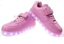 LEd кроссовки розовые Крылья - Wings для девочки 5307-3, фото 2