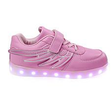LEd кроссовки розовые Крылья - Wings для девочки 5307-3, фото 3