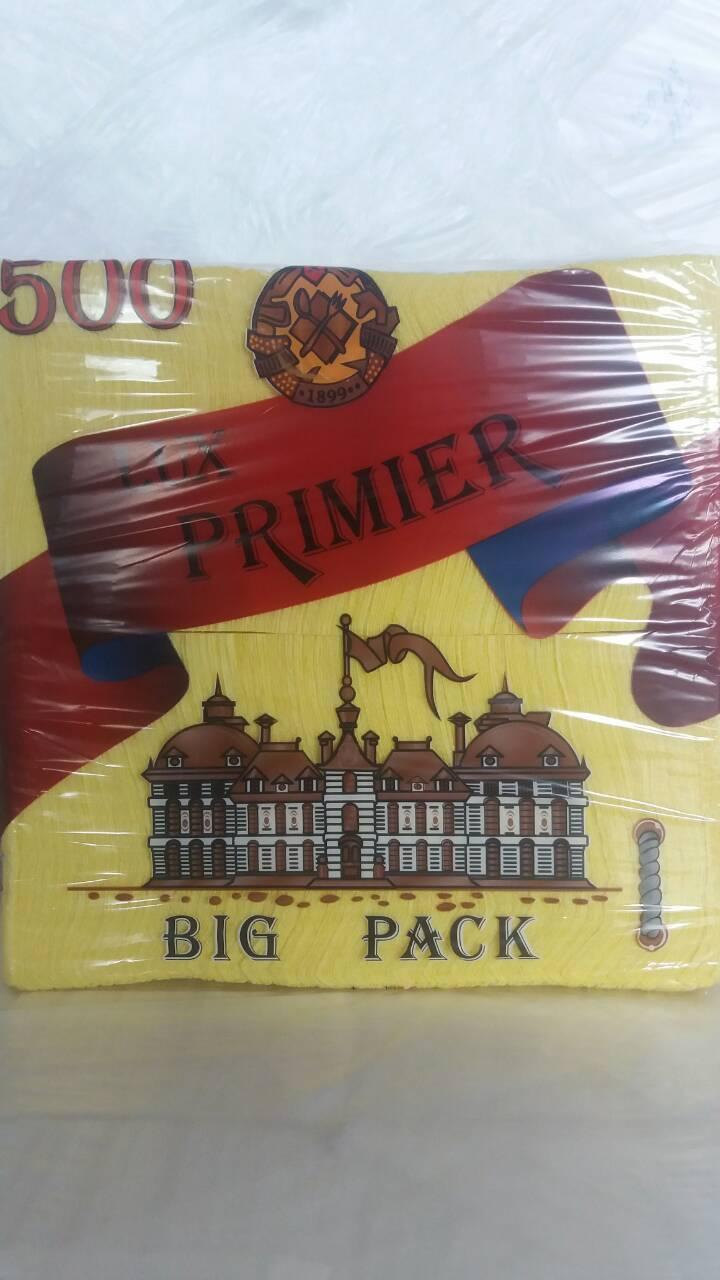Cалфетка бумажная  500лист Премьер Желтый (1 пач)
