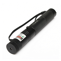 Лазерная указка с насадками, зеленая, лазер 303