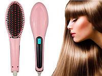 Расческа-выпрямитель Fast Hair Straightner, утюжок для волос с Led дисплеем