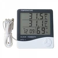 Цифровой термометр с гигрометром HTC-2