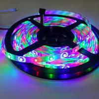 Светодиодная лента 3528 5м RGB 300 диодов LED, Комплект: лента, контроллер, блок питания, пульт