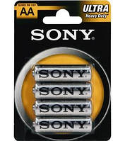 Батарейка Sony R6 New Ultra 1*4 блистер