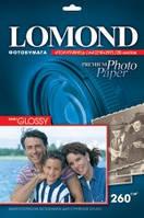 Бумага для печати фото Lomond полуглянцевая А6 п260 20л