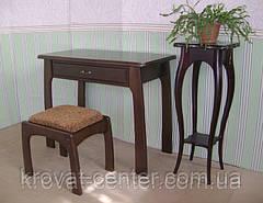 """Туалетный столик с пуфиком """"Для королевы"""" (массив - сосна, ольха, береза, дуб)., фото 3"""