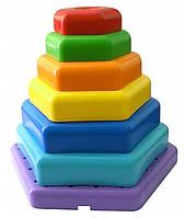 Игрушка развивающая 'Радужная пирамидка' (39354)