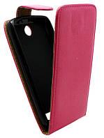 Чехол-книжка для Lenovo A526 розовая с силиконом Croco Case