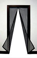 Антимоскитная сетка штора на магнитах Magic Mesh, занавеска москитная Magic Mash