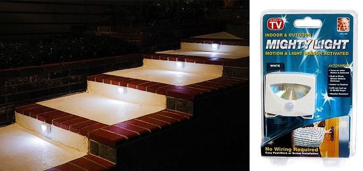 Топ товар! Cветильник с датчиком движения Mighty Light лампа на батарейках – освещение для дома - Строительные, отделочные инструменты, крепежный, механический инструмент - NEO-TOPEX в Киеве