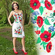 Белая юбка с корсетом с крупной вышивкой