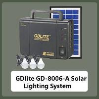 Внешний аккумулятор с солнечной батареей GD-LITE, GD-8006A