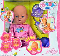 Кукла-пупс Baby doll интерактивный с аксессуарами, типа Baby Born, разные виды