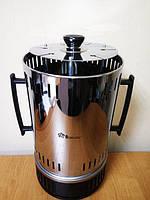 Электрошашлычница Domotec BBQ на 6 шампуров, мощность 1000 В, быстрый разогрев, загрузка 1,4 кг