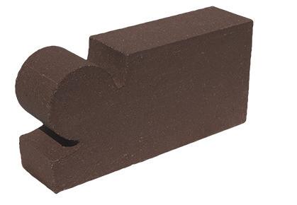 кирпич фасонный капля коричневый