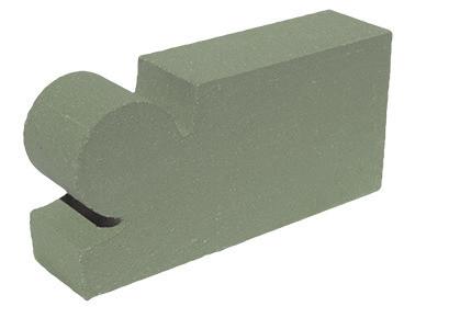 кирпич облицовочный фасонный зеленый