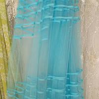 Фатин с голубыми полосками