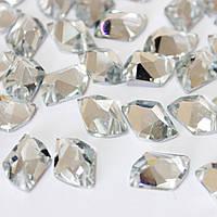 Пришивные стразы (синтетич.стекло)11х14 Форма космик.Цвет Crystal .Цена за 1шт