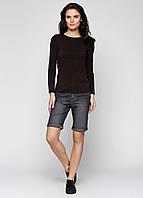 Качественные джинсовые шорты женские черного цвета Miss