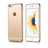 Металлизированный силиконовый чехол (TPU) iPhone 6/6s (gold)