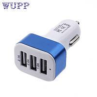 АВТО зарядка, 3шт USB выхода, 3А,  в прикуриватель,  тройной 3в1