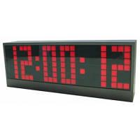 Большие настольные часы vst 2189-1, красная подсветка, дискретный дисплей, будильник, таймер, секундомер