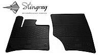 Резиновые коврики Stingray Стингрей Ауди КУ7 2005-2015 Комплект из 2-х ковриков Черный в салон