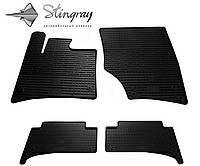 Резиновые коврики Stingray Стингрей Ауди КУ7 2005-2015 Комплект из 4-х ковриков Черный в салон