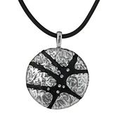 "Кулон ""Кендра"" с кристаллами Swarovski, покрытый серебром (j56439r6)"