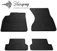 Резиновые коврики Stingray Стингрей Ауди А7 2010- Комплект из 4-х ковриков Черный в салон