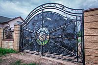 Ворота металлические кованые, фото 1